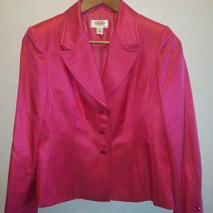 Talbots Petites fuchsia silk jacket